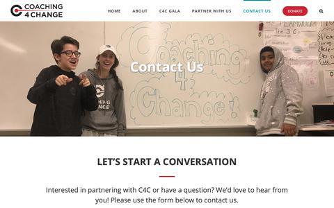 Screenshot of Contact Page c4cinc.org - Contact Us - Coaching 4 Change - captured Sept. 28, 2018