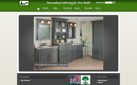 Screenshot of Home Page woodpro.com - Woodpro Cabinetry - captured Oct. 7, 2014