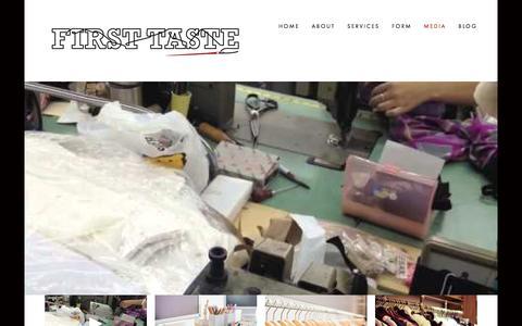 Screenshot of Press Page firsttastenyc.com - FirstTaste-AYI — Media - captured Nov. 25, 2016