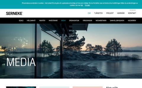 Screenshot of Press Page serneke.se - Media - captured Feb. 27, 2018