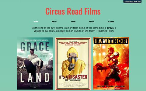 Screenshot of Home Page circusroadfilms.com - circusroadfilms - captured July 2, 2018