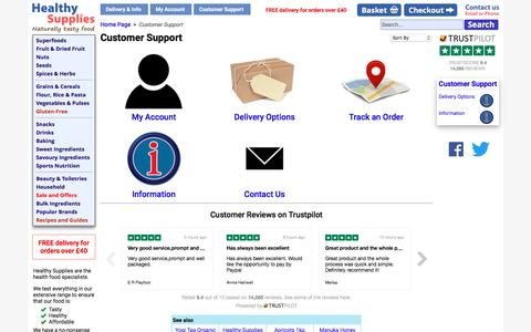 Screenshot of Support Page healthysupplies.co.uk - Customer Support - HealthySupplies.co.uk. Buy Online. - captured May 17, 2017