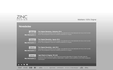 Screenshot of Press Page zinc.com.uy - Zinc Design / Mobiliario 100% Original - captured Oct. 7, 2014