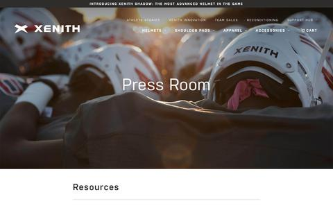 Screenshot of Press Page xenith.com - Press Room - Xenith - captured March 5, 2019
