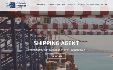 Screenshot of Home Page calship.it - CALSHIP - CALABRIA SHIPPING AGENCY | Shipping Agency - captured Sept. 26, 2018