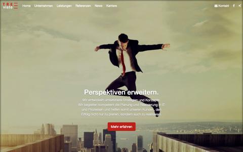 Screenshot of Home Page trevisto.de - TREvisto GmbH - Perspektiven erweitern. - captured Oct. 7, 2014