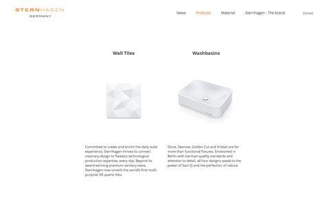 Screenshot of Products Page sternhagen.com - Sternhagen - captured July 21, 2016