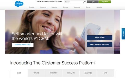 Screenshot of Home Page salesforce.com - CRM and Cloud Computing To Grow Your Business - Salesforce.com - captured Jan. 26, 2015