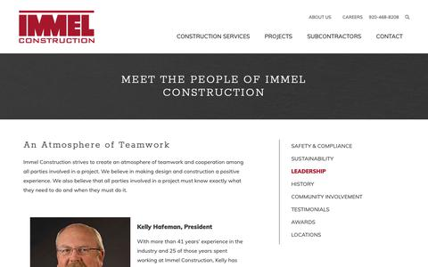 Screenshot of Team Page immelconstruction.com - Meet the People of Immel Construction - captured Nov. 14, 2018