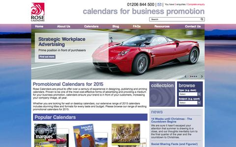 Screenshot of Home Page rosecalendars.co.uk - 2015 Promotional Calendars & Corporate Business Calendars - Rose Calendars - captured Sept. 24, 2014