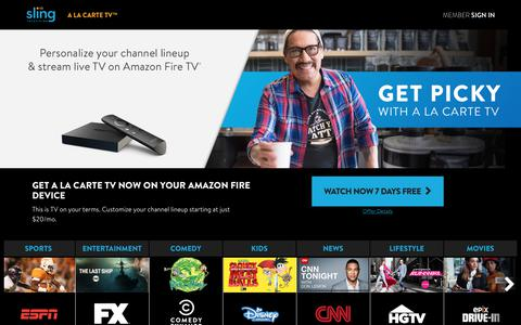 Amazon Fire TV - Get A La Carte TV | Sling TV