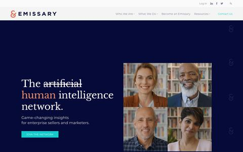 Screenshot of Home Page emissary.io - Emissary - Join Our Human Intelligence Network - captured Feb. 7, 2019