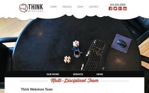 Screenshot of Team Page thinkwebstore.com - Multi-Disciplined Team in Ridgeland, MS - captured Nov. 19, 2018