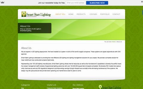 Screenshot of smartstartlighting.com - led lighting companies - captured Oct. 5, 2015