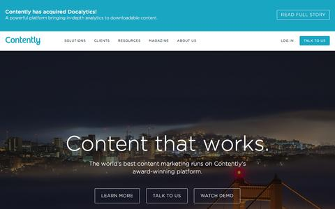 Contently - Content Marketing That Works