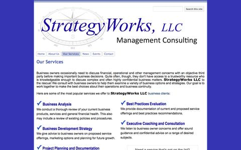 Screenshot of Services Page google.com - Our Services - StrategyWorks, LLC - captured Dec. 16, 2016