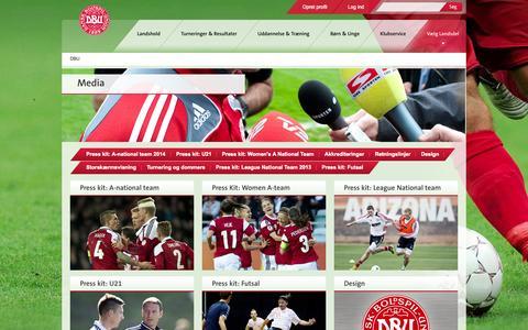 Screenshot of Press Page dbu.dk - Media - captured Sept. 23, 2014