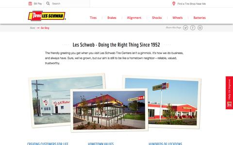 Screenshot of About Page lesschwab.com - Who We Are and How We Started - Les Schwab - captured June 22, 2017