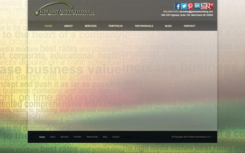 Screenshot of Testimonials Page girardadvertising.com - Girard Advertising Testimonials - captured Oct. 2, 2014