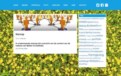 Screenshot of Site Map Page bakkercrossmedia.nl - Sitemap - Bakker CrossMediaBakker CrossMedia - captured May 31, 2017
