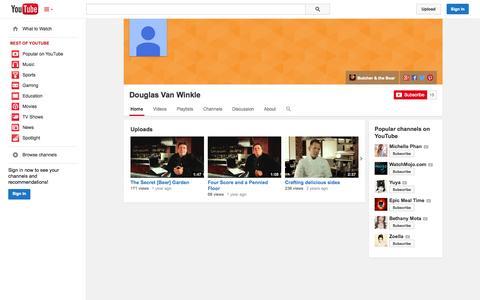 Screenshot of YouTube Page youtube.com - Douglas Van Winkle  - YouTube - captured Oct. 23, 2014