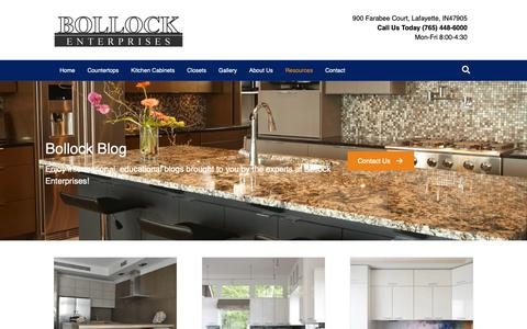 Screenshot of Blog bollocktops.com - Lafayette IN Countertops, Kitchen Cabinets & More!   Bollock Blog - captured Dec. 18, 2018
