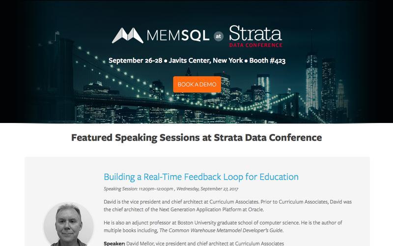 Join MemSQL @ Strata Data Conference New York