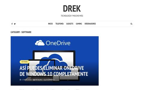 Screenshot of drek.es - Software | Drek - captured Oct. 30, 2016