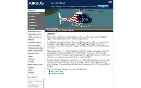 Screenshot of Locations Page airbushelicoptersinc.com - USA Locations | Airbus Helicopters, Inc. - captured Nov. 6, 2018