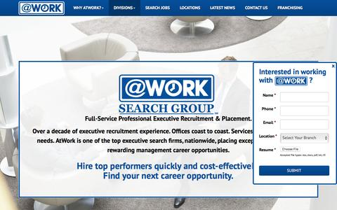 Screenshot of atwork.com - Executive Recruitment Firms | Top Executive Search Firms - captured May 24, 2016