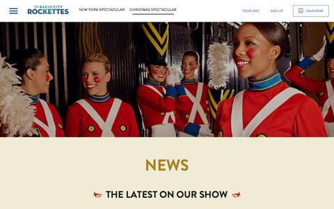 Screenshot of Press Page rockettes.com - News for the Christmas Spectacular | The Radio City Rockettes | - captured Dec. 5, 2016
