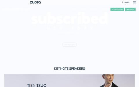 Subscribed New York City 2017 presented by Zuora - September 14, 2017