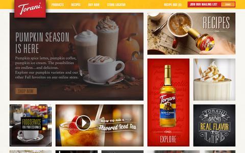Screenshot of Contact Page torani.com - Consumer contact | Webform | Torani - captured Oct. 2, 2015