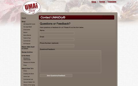 Screenshot of Contact Page drybagsteak.com - Contact Drybag Steak.com - Dry Aged Beef, Dry-Aging Steak, Age Beef At Home - captured Sept. 23, 2017