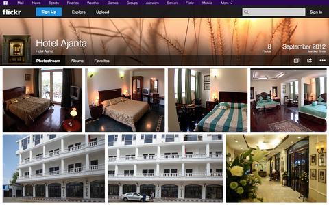 Screenshot of Flickr Page flickr.com - Flickr: Hotel Ajanta's Photostream - captured Oct. 23, 2014