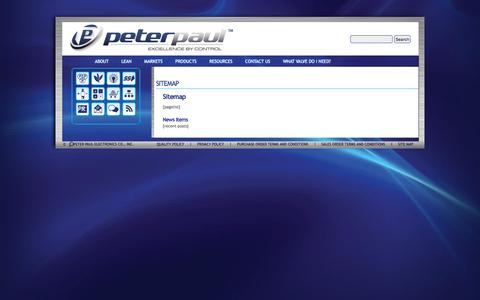 Screenshot of Site Map Page peterpaul.com - SITEMAP | Peter Paul - captured Nov. 5, 2016