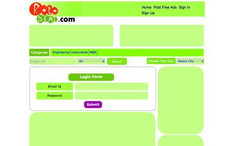 Screenshot of Login Page rotodeal.com - Login - captured Oct. 26, 2014