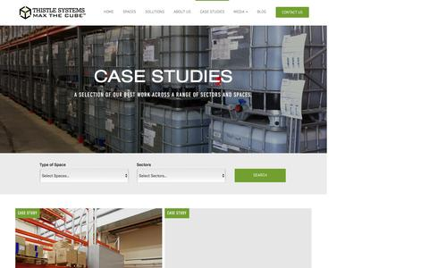Screenshot of Case Studies Page thistlesystems.co.uk - Case Studies - Thistle Systems - captured Dec. 23, 2016