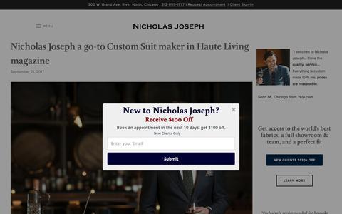 Screenshot of Blog customsuitsyou.com - Gentleman's Blog | Nicholas Joseph - captured Oct. 21, 2017