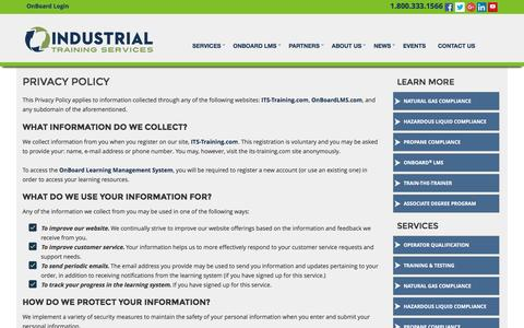 Industrial Training Services Privacy Policy