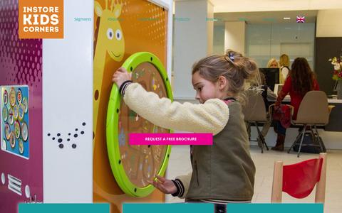 Screenshot of Home Page ikcplay.com - Instore Kids Corners - Design and production of kids play areas. - captured Feb. 11, 2016