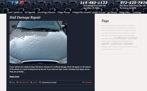 Screenshot of Blog earthcollisioncenter.com - Blog - captured Sept. 27, 2014