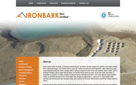 Screenshot of Site Map Page ironbark.gl - Sitemap   IRONBARKIRONBARK - captured Oct. 6, 2014