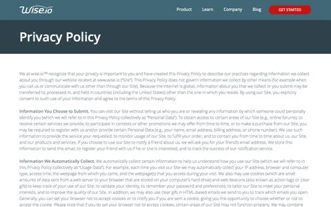 Privacy Policy | Wise.io