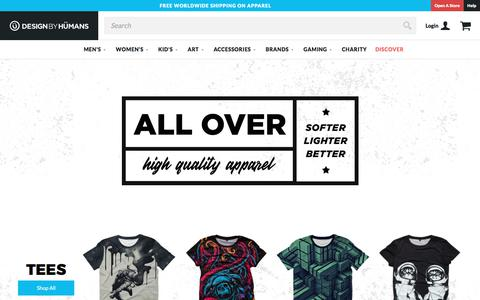Shop Featured All Over Design By Humans Apparel