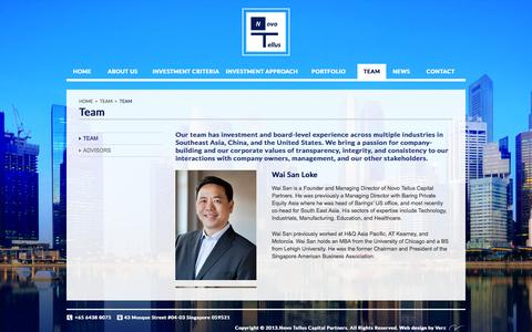 Screenshot of Team Page novotellus.com - Team:: Novo Tellus Capital Partners – Private Equity Firm - captured Oct. 7, 2014