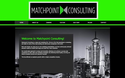 Screenshot of Home Page matchpointconsultinginc.com - Matchpoint Consulting - captured Oct. 8, 2014