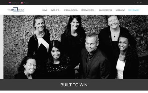 Screenshot of Home Page thelegalgroup.nl - The Legal Group   Built to win - captured Jan. 11, 2016
