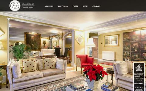 Screenshot of Home Page georgebond.tv - George Bond Interior Design - captured Oct. 2, 2014