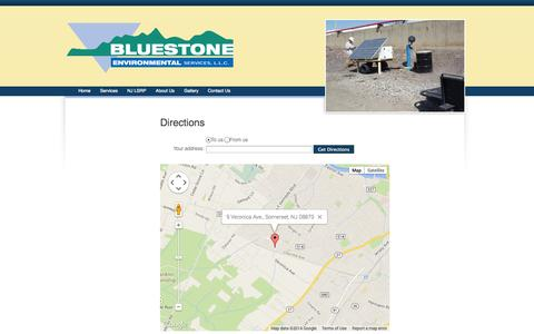 Screenshot of Maps & Directions Page bluestonecorp.net - Directions - Bluestonecorp.net - Responsible, cost effective environmental solutions - captured Oct. 5, 2014